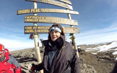Anne Lorimor, the oldest person to climb Kilimanjaro